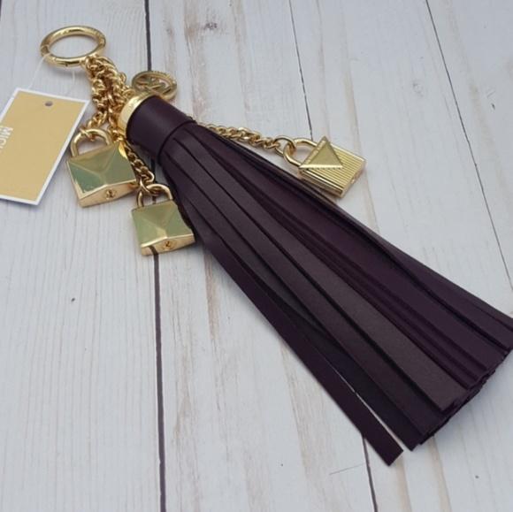 74ded0be2a17 Michael Kors Accessories | Mercer Damson Lock Tassel Bag Charm ...
